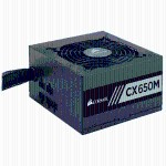 CX-M Series CX650M - 2015 Edition - power supply (internal) - ATX12V 2.4/ EPS12V 2.92 - 80 PLUS Bronze - AC 100-240 V - 650 Watt - active PFC - North America - matte black