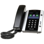 VVX 501 12-line Desktop Phone with HD Voice for Microsoft Skype for Business/Lync edition