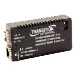 Hardened Mini 10/100/1000 Bridging - Fiber media converter - Ethernet, Fast Ethernet, Gigabit Ethernet - 10Base-T, 1000Base-LX, 100Base-TX, 1000Base-T - RJ-45 / SC single-mode