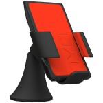 VU Wireless Charging Car Mount 3 Coil Qi Charger for Galaxy S6/Nexus 6/Droid Turbo/Lumia 920 and other Qi Phones - Red