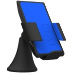 VU Wireless Charging Car Mount 3 Coil Qi Charger for Galaxy S6/Nexus 6/Droid Turbo/Lumia 920 and other Qi Phones - Blue
