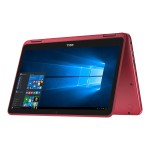 """Inspiron 11 3168 Intel Pentium N3710 Quad-Core 1.60GHz 2-in-1 Notebook PC - 4GB RAM, 500GB HDD, 11.6"""" LED-Backlit, Touchscreen, 802.11b/g/n, Bluetooth 4.0 - Red"""