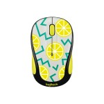 Party Collection M325c - Mouse - optical - 5 buttons - wireless - 2.4 GHz - USB wireless receiver - lemon