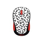 Party Collection M325c - Mouse - optical - 5 buttons - wireless - 2.4 GHz - USB wireless receiver - red zigzag