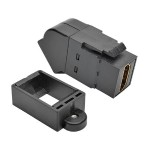 HDMI All-in-One Keystone/Panel Mount Angled Coupler (F/F), Black