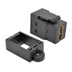 TrippLite HDMI All-in-One Keystone/Panel Mount Coupler (F/F), Black P164-000-KP-BK