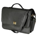 Emporium Leather Company ROYCE Executive 15 Laptop Briefcase Handcrafted in Genuine Leather - Black 640-BLACK-3