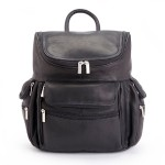 ROYCE Executive 15 Laptop Backpack Handcrafted in Colombian Genuine Leather - Black