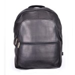 ROYCE 15 Inch Laptop Backpack in Colombian Genuine Leather - Black