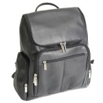 ROYCE Executive 13 Laptop Backpack Bag Handcrafted in Colombian Genuine Leather - Black