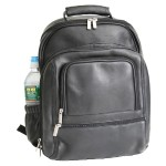 ROYCE Executive 15 Laptop Backpack Bag Handcrafted in Colombian Genuine Leather - Black