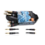 "Dual 1/4"" to Dual 1/4"" Audio cables"