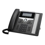 IP Phone 7861 - VoIP phone - SIP, SRTP - 16 lines - charcoal - remanufactured