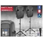 "15"" BT Speaker Package with Tripod Stand Light, Mic and Cables"