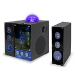3 Speaker BT Party Light System with FM Radio and LED Show