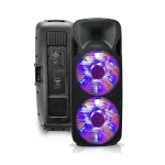 "Double 15"" Two-Way Bluetooth LED Loudspeaker"