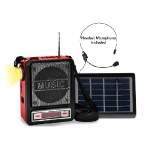 Solar PRechargeableÿBT Speaker with Headset Mic and Light