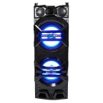 "Dual 10"" Active Speaker Tower System - Black"