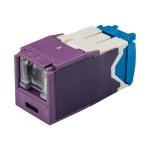 MINI-COM TX6A 10Gig UTP Jack Module with MaTriX Technology - Modular insert - RJ-45 - violet