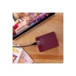 WD My Passport Ultra WDBBKD0040BBY - Hard drive - encrypted - 4 TB - external ( portable ) - USB 3.0 - 256-bit AES - wild berry