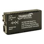 Hardened Mini PD 10/100/1000 Bridging - Fiber media converter - Gigabit Ethernet - 10Base-T, 100Base-TX, 1000Base-T, 1000Base-X, 100Base-X - RJ-45 / SFP (mini-GBIC)