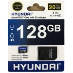 Hyundai IT Flash memory card ( microSDXC to SD adapter included ) - 128 GB - UHS-I / Class10 - microSDXC UHS-I MHYMSDC128GC10