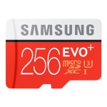 EVO+ MB-MC256DA - Flash memory card ( microSDXC to SD adapter included ) - 256 GB - UHS-I U3 / Class10 - microSDXC UHS-I
