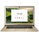"Chromebook 14 CB3-431-C6ZB Intel Celeron N3160 Quad-Core 1.6GHz Chromebook - 4GB RAM, 32GB Flash Drive, 14"" Full HD 1920 x 1080 IPS, 802.11a/b/g/n/ac, Webcam, 3-Cell 3950mAh Li-Polymer - Luxury Gold"