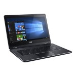 """Aspire R 14 R5-471T-57RD - Flip design - Core i5 6200U / 2.3 GHz - Win 10 Home 64-bit - 8 GB RAM - 256 GB SSD - 14"""" IPS touchscreen 1920 x 1080 (Full HD) - HD Graphics 520 - Wi-Fi - black"""