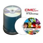 CMC Pro, 48X, CD-R, Silver Inkjet Printable, (Hub Printable), 100 Disc Tape Wrap