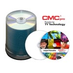 CMC Pro, 48X, CD-R, Silver Inkjet Printable, 100 Disc Cakebox