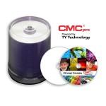 CMC Pro, 4.7GB, 8X, White High Gloss Inkjet (Hub Printable), 100 Disc Tape Wrap