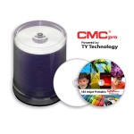 CMC Pro 4.7GB, 16X, Silver Inkjet (Hub Printable), 100 Disc Tape Wrap