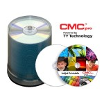 CMC Pro, 48X, CD-R, White High Gloss Inkjet (Hub Printable), 100 Disc Tape Wrap