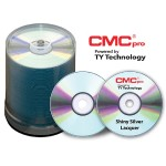 CMC Pro, 48X, CD-R, Shiny Silver Lacquer (Hub Printable), 100 Disc Cakebox