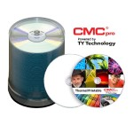 CMC Pro, 48X, CD-R, Silver EVEREST Thermal (Hub Printable), 100-Disc Tape Wrap