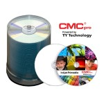 CMC Pro, 48X, CD-R, White Inkjet Printable, 100 Disc Cakebox