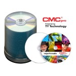 CMC Pro, 48X, CD-R, White Inkjet Printable, (Hub Printable), 100 Disc Tape Wrap