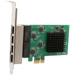 Syba Multimedia 4 Port Gigabit Ethernet PCI-e x1 Network Interface Card SI-PEX24042
