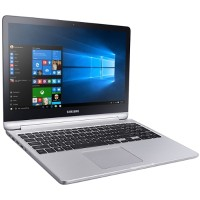 "Samsung Notebook 7 Spin 740U5LE - Flip design - Core i7 6500U / 2.5 GHz - Win 10 Pro - 8 GB RAM - 128 GB SSD + 1 TB HDD - 15.6"" touchscreen 1920 x 1080 (Full HD) - GF 940MX - Wi-Fi, Bluetooth - platinum silver NP740U5L-Y04US"