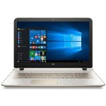 "HP Inc. Pavilion 17-g199cy AMD Quad-Core A4-6210 APU 1.80GHz Notebook - 6GB RAM, 1TB HDD + 8GB NAND, 17.3"" HD+ WLED, SuperMulti DVD, Fast Ethernet, 802.11b/g/n, Webcam, 4-cell Li-Ion, Ornate Pattern in Pale Gold - Refurbished V0Q32UAR#ABA"