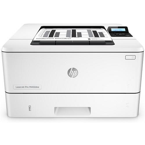 LaserJet Pro M402dne - Printer - monochrome - Duplex - laser - A4/Legal - 4800 x 600 dpi - up to 40 ppm - capacity: 350 sheets - USB 2.0, Gigabit LAN