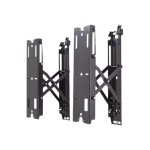 Fusion FCAV1U - Mounting component (pull-out wall mount) for LCD / plasma panel - black - screen size: up to 82""