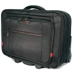 """Professional Rolling Laptop Case - Notebook carrying case - 17.3"""" - black, red"""