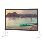 Fast-Fold Truss Frame HDTV Format - Projection screen with legs - rear - 257 in (257.1 in) - 16:9 - Da-Mat - black