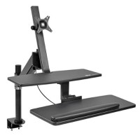 TrippLite Sit Stand Desktop Workstation Adjustable Standing Desk w/ Clamp WWSS1327CP