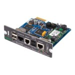 Network Management Card 2 with Environmental Monitoring, Out of Band Management and Modbus - Remote management adapter - SmartSlot - 10/100 Ethernet