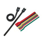 TAK-TY HLT Hook & Loop Cable Ties - Cable tie - 8 in - yellow