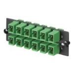 Opticom Fiber Adapter Panels - Patch panel - green - 12 ports