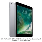 Apple 9.7-inch iPad Pro Wi-Fi + Cellular 128GB (Space Gray), Apple Smart Keyboard, AppleCare+ plus FREE Apple Pencil! MLQ32LL/A